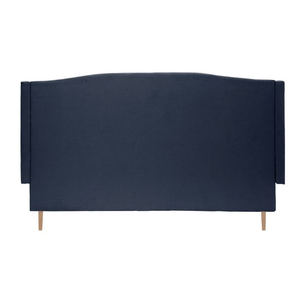 Tmavomodrá posteľ VIVONITA Windsor 140x200cm, svetlé nohy