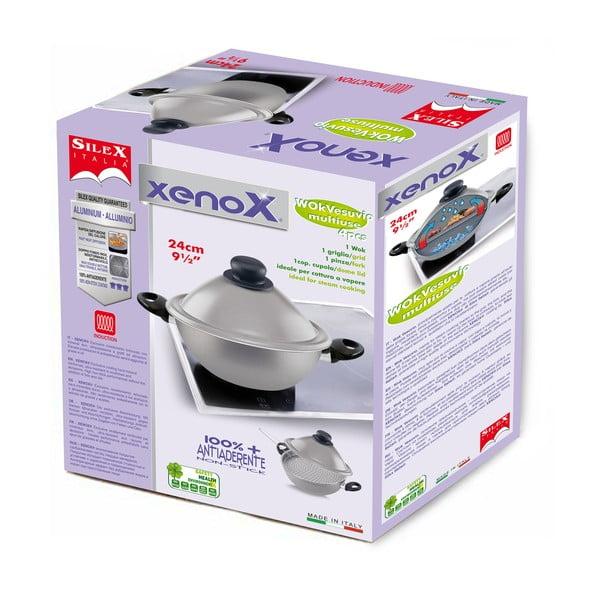 Panvica Silex Italia Xenox Wok s dvomi rukoväťami, 24cm