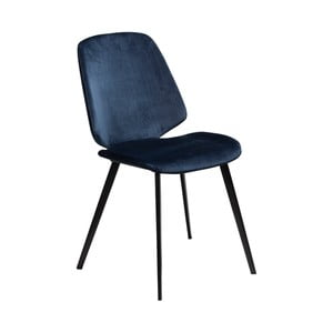 Tmavomodrá jedálenská stolička DAN–FORM Denmark Swing Velvet
