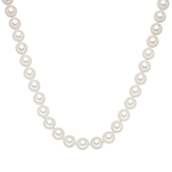 Náhrdelník s bielymi perlami ⌀ 12 mm Perldesse Muschel, dĺžka 40 cm