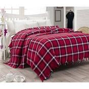 Ľahká prikrývka cez posteľ Iskoc Red,200x240cm