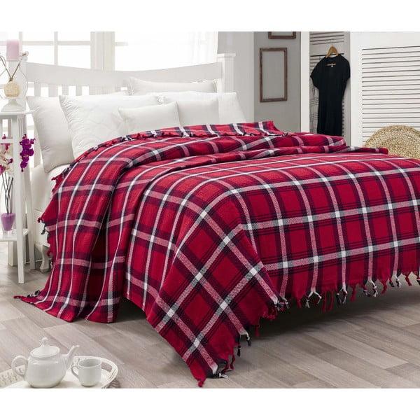 Ľahká prikrývka cez posteľ Iskoc Red,200×240cm