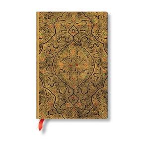 Linajkový zápisník s mäkkou väzbou v zlatej farbe Paperblanks Zahra, 208 strán