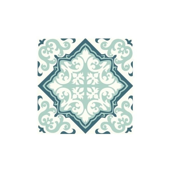 Samolepky Tile Art Green Ornament