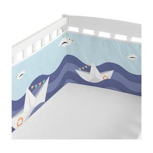 Textilný mantinel do postieľky Happynois Sailor, 210×40cm
