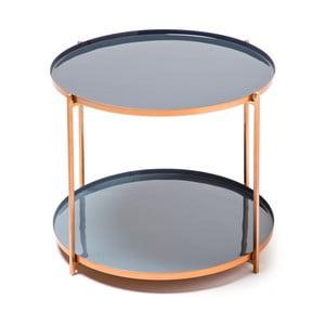 Modro-sivý odkladací stolík 360 Living Romy 422, Ø57cm