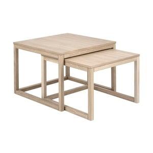 Konferenčný stolík s podnožím z dubového dreva Actona Coffee Cornus