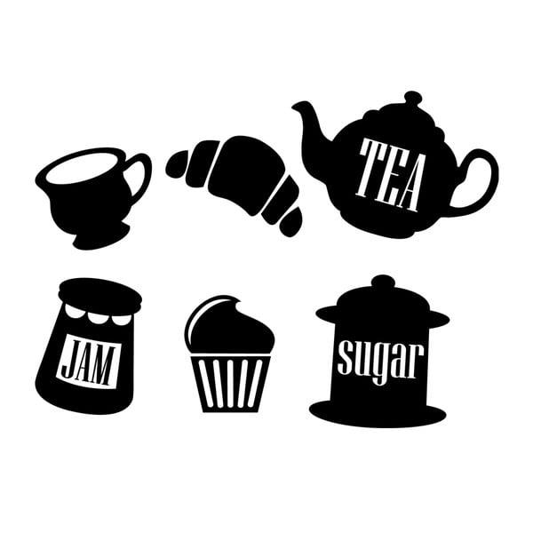 Samolepka MaDéco Tea, Jam, Sugar