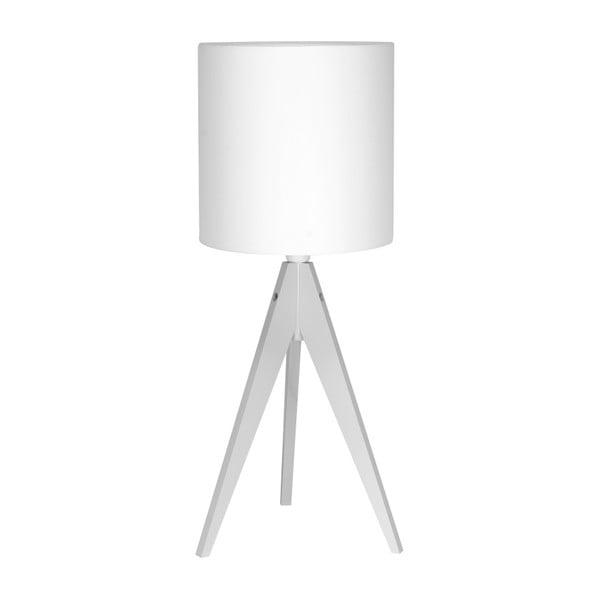 Biela stolová lampa 4room Artist, biela lakovaná breza, Ø 25 cm