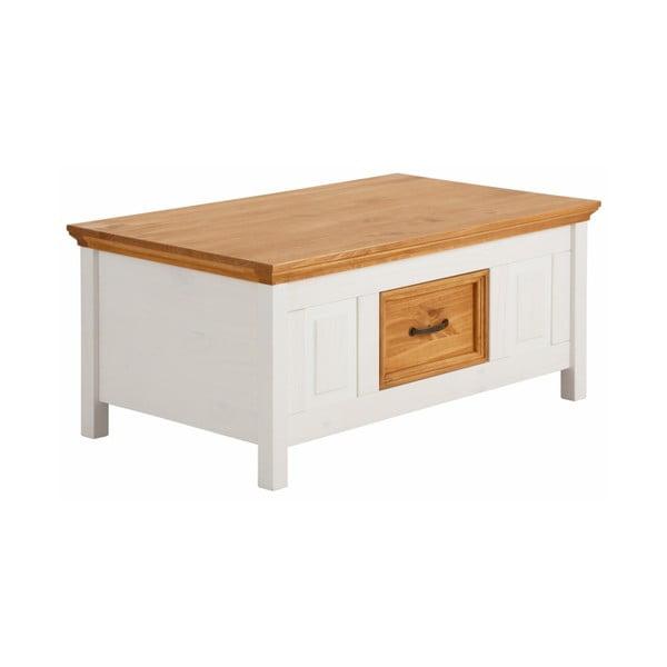 Biely konferenčný stolík z masívneho borovicového dreva Støraa Suzie