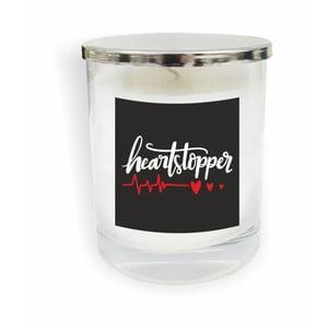Biela sviečka North Carolina Scandinavian Home Decors Motto Glass Candle V6
