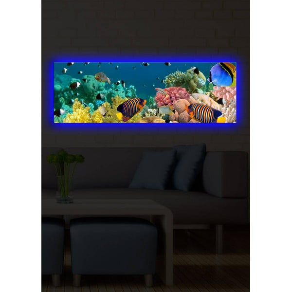 Podsvietený obraz Under the Sea, 30x90 cm