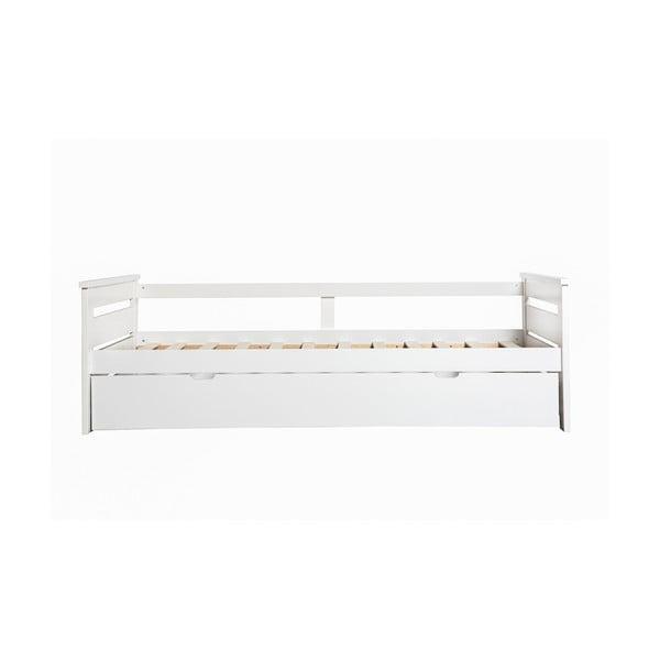 Biela rozkladacia posteľ Marckeric Romantica, 90 × 190 cm