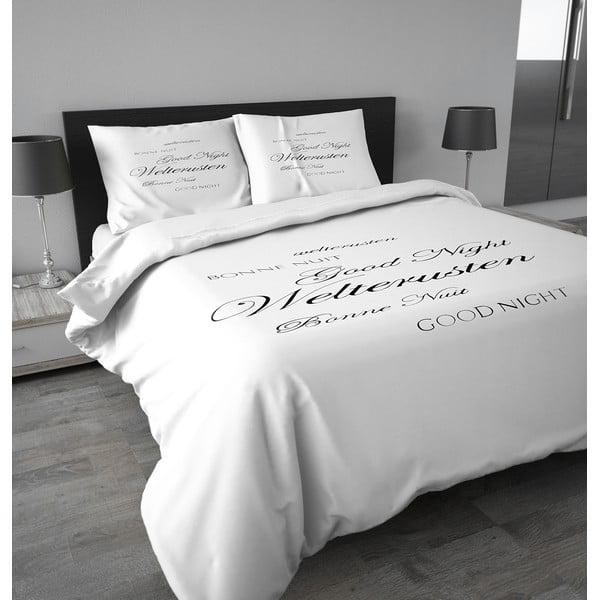 Flanelové obliečky Good Night 200x200 cm, biele