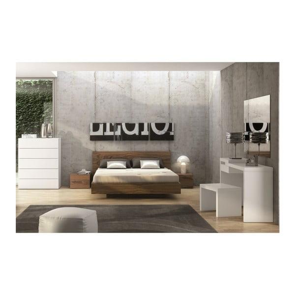 Hnedá posteľ TemaHome Float, 180×200 cm