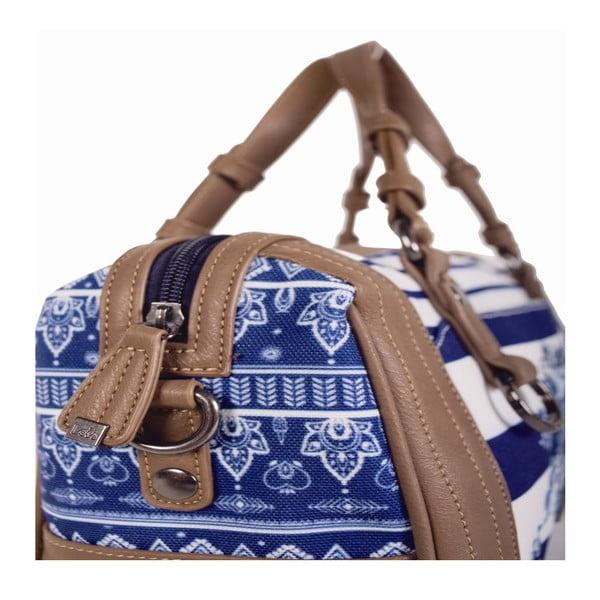 Modro-biela taška Lois, 30 x 20 cm