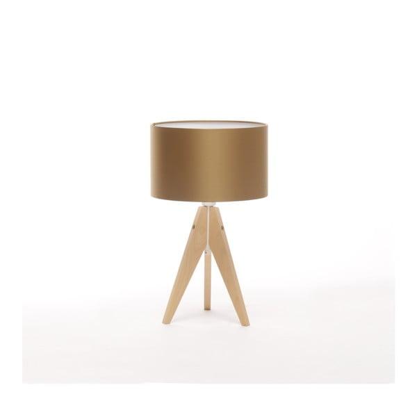 Zlatá stolová lampa 4room Artist, breza, Ø 25 cm