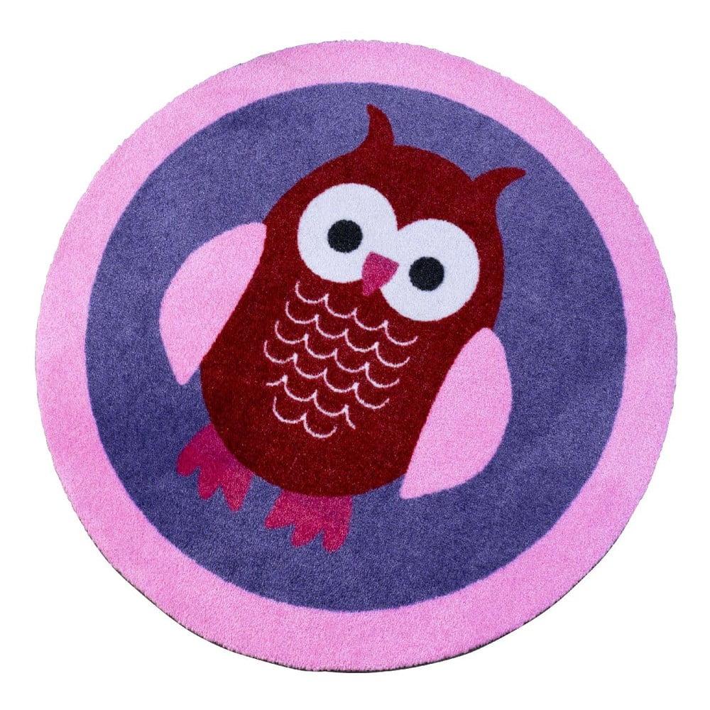 Detský fialový koberec Zala Living Owl, ⌀ 100 cm