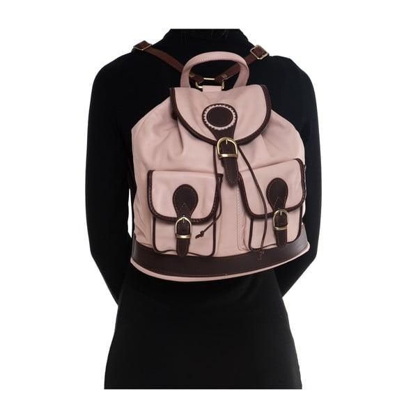 Kožený batoh Mangotti 2038, ružový