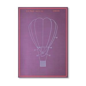 Plagát Hot Air Baloon, 30x42 cm