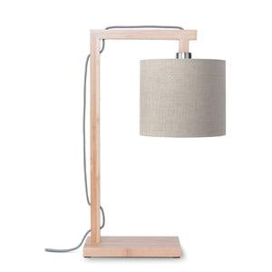 Stolová lampa s béžovým tienidlom a konštrukciou z bambusu Good&Mojo Himalaya