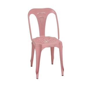 Kovová stolička Pink Metal