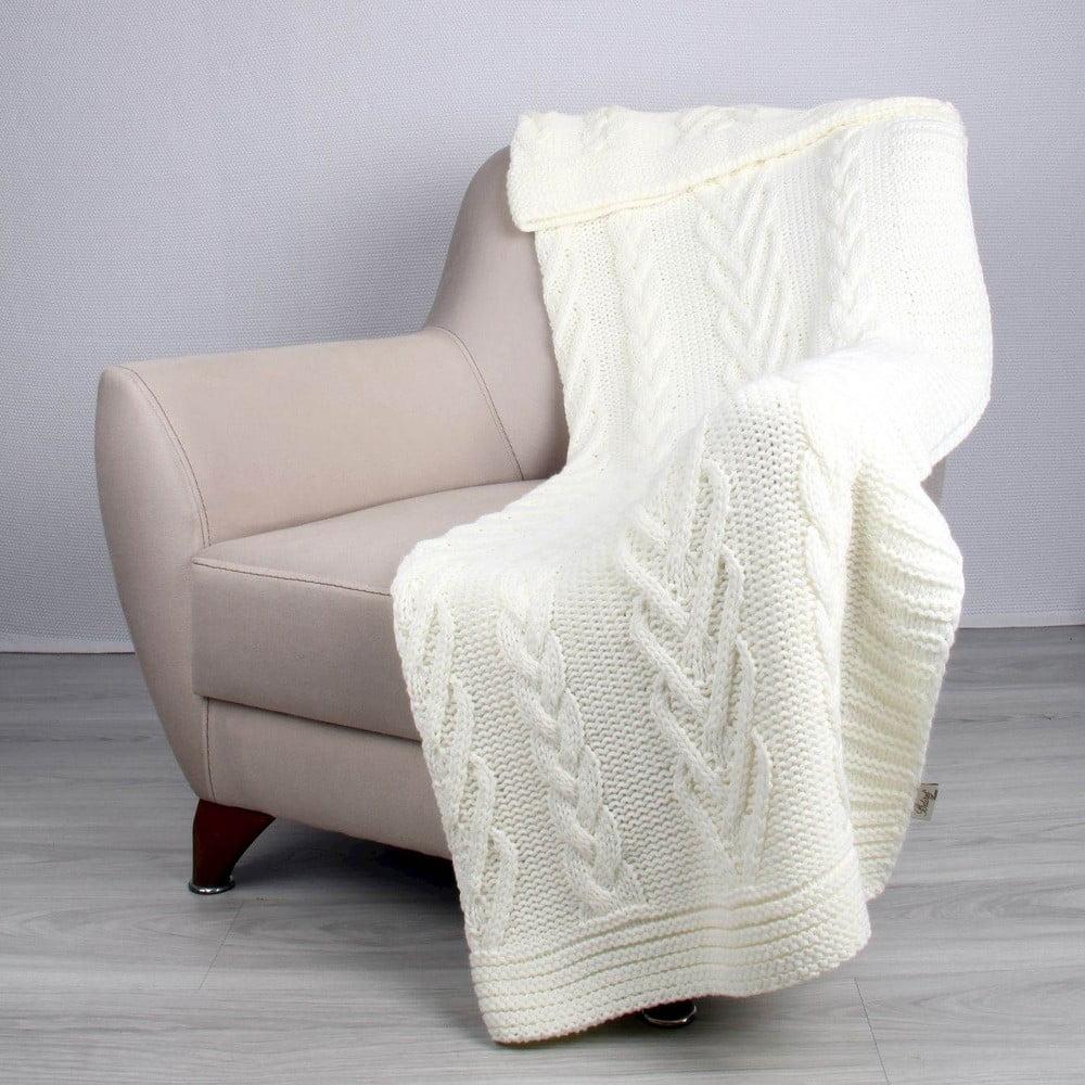 Svetlobéžová deka Teto, 170 × 130 cm