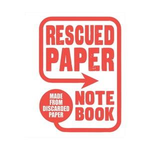 Zápisník Chronicle Books Rescued Paper Notebook, velký