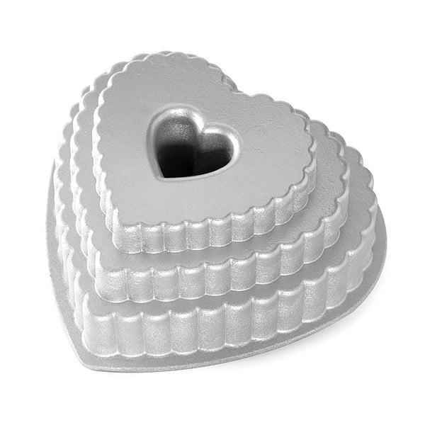 Forma na bábovku Nordic Ware Heart, 2,8 l