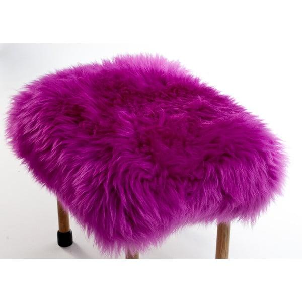 Stolička z ovčej kože Nerys Cerise