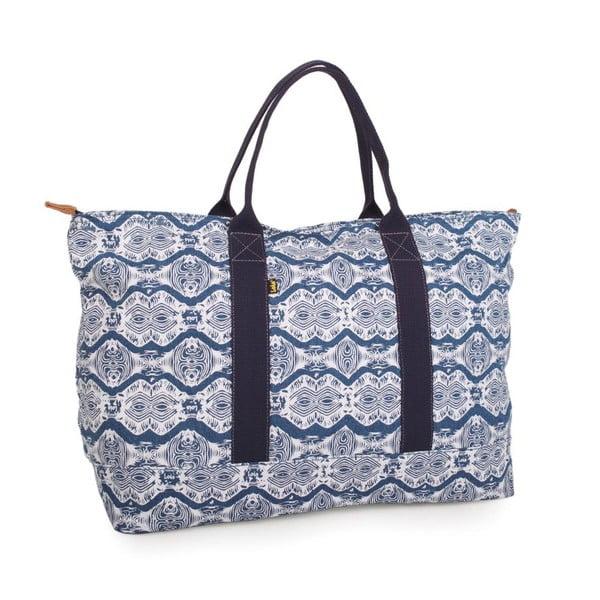 Bielo-modrá plátená taška Lois Playera