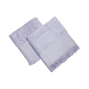 Sada 2 modrých uterákov Sehzade, 90×50 cm