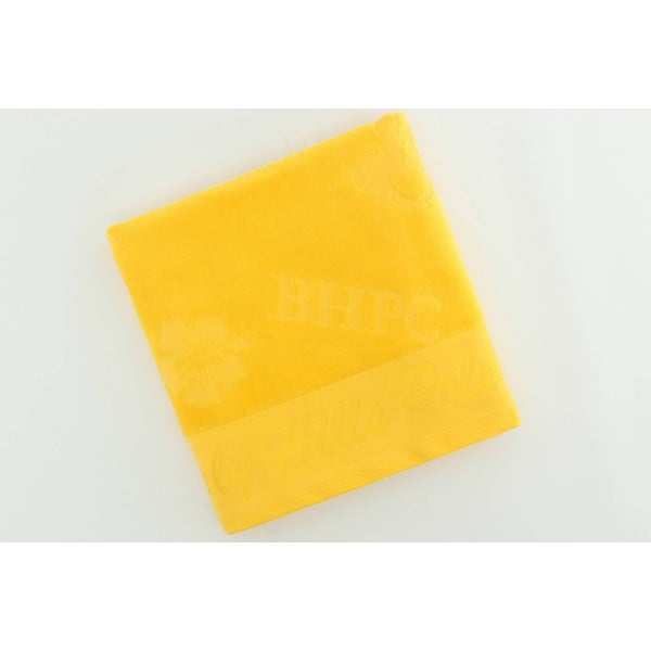 Žltý bavlnený uterák BHPC Velvet, 50x100 cm