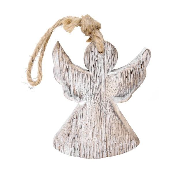 Závesný drevený anjel Ego Dekor, výška 9 cm