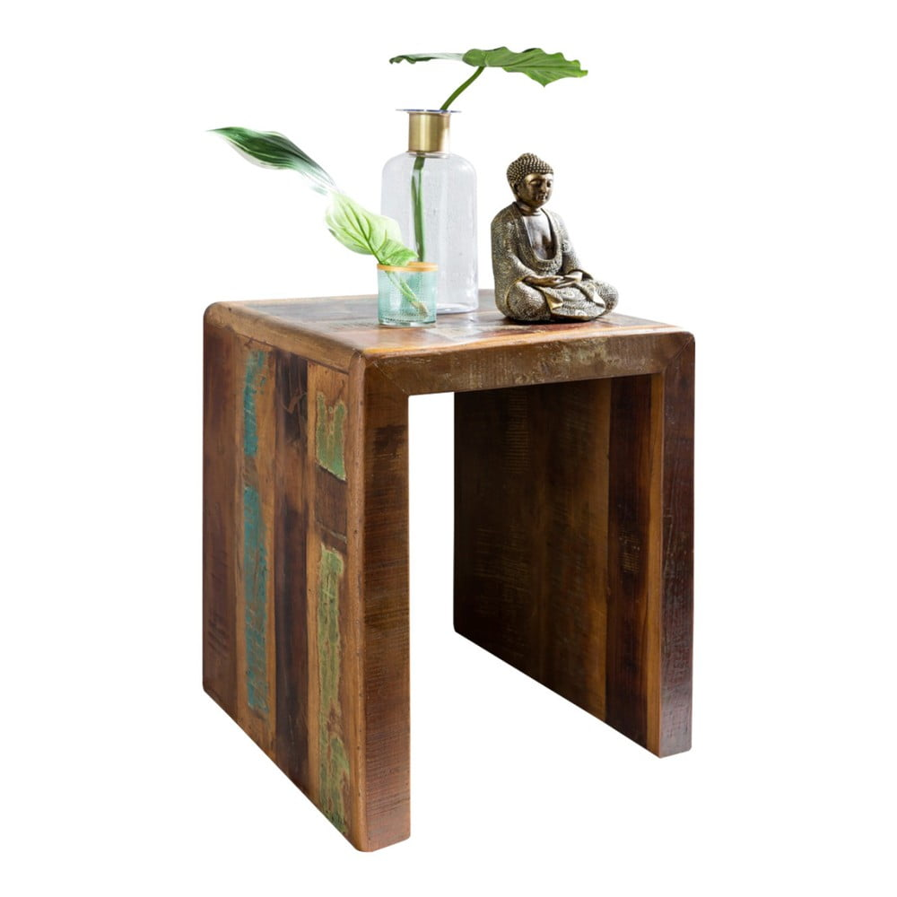 Odkladací stolík z recyklovaného mangového dreva Skyport KALKUTTA, výška 55 cm
