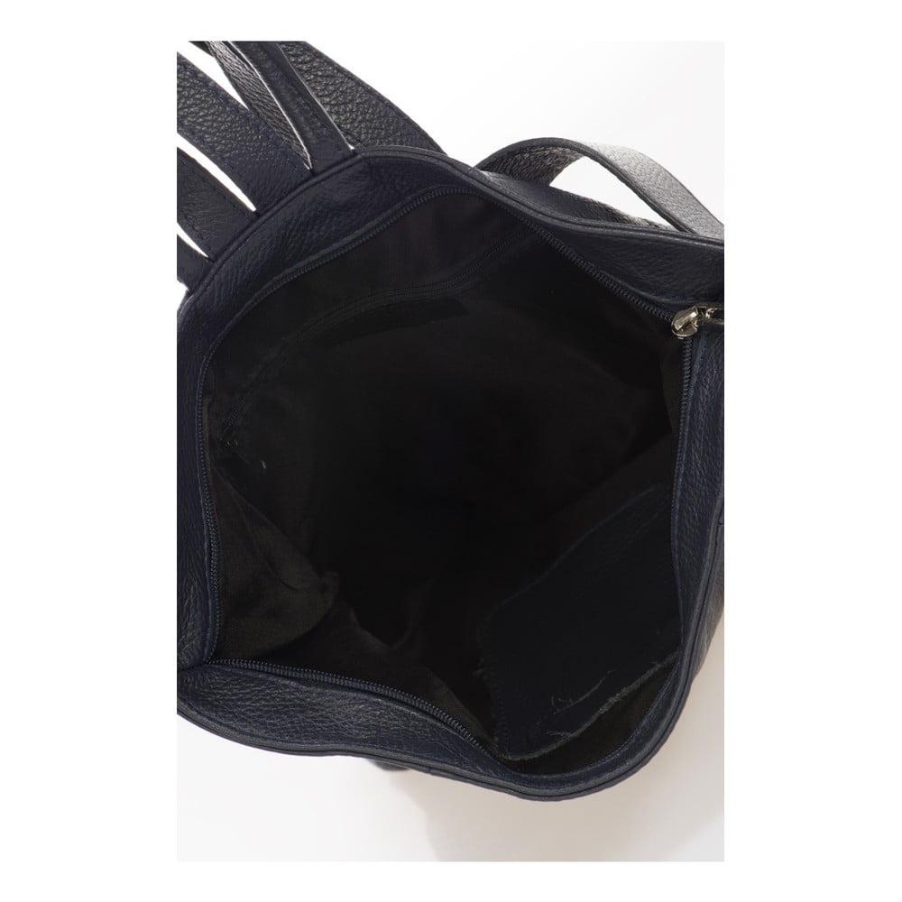 Tmavomodrý kožený batoh Lisa Minardi Narni Batoh nadovšetko!