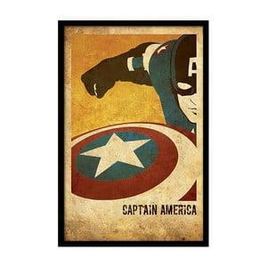 Plagát Captain America, 35x30 cm