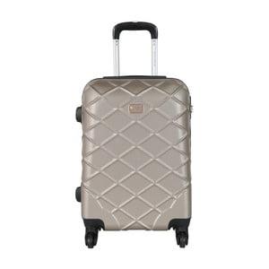 Béžová príručná batožina na kolieskach Travel World