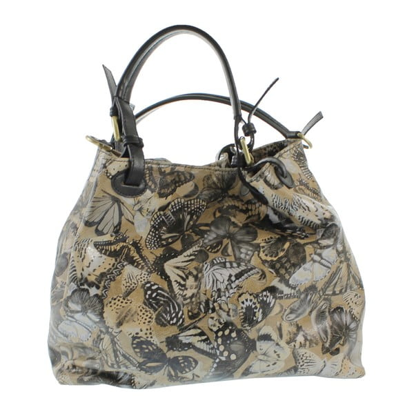 Taupe kožená kabelka Teresa