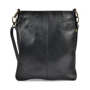 Čierna kožená kabelka Mangotti Pasca