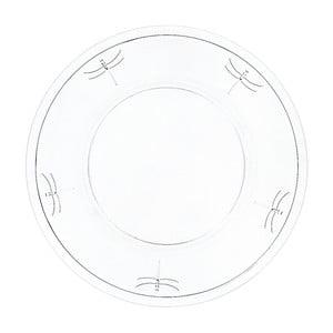 Sklenený tanier La Rochère Libellules, 32cm