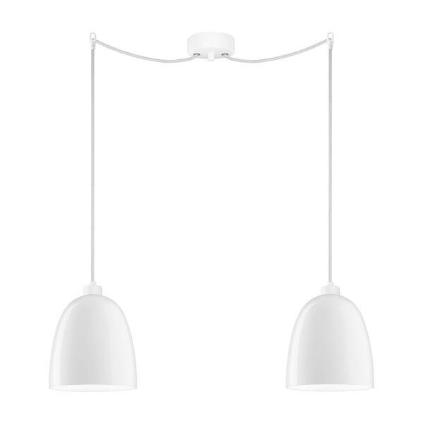 Biele dvojité stropné svietidlo Sotto Luce AWA Elementary 2S Glossy