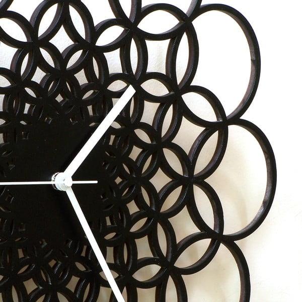 Drevené hodiny Rings, 41 cm