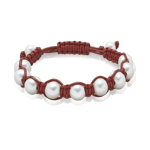 Tmavočervený perlový náramok Nova Pearls Copenhagen de Vida