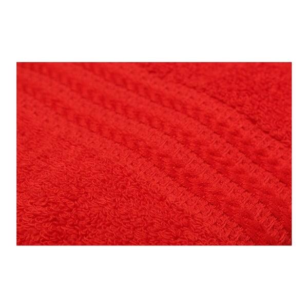 Sada 4 červených bavlnených osušiek Rainbow Tulip, 70×140cm