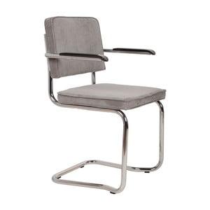 Sada 2 svetlosivých stoličiek s opierkami Zuiver Ridge Kink Rib