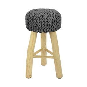 Barová stolička  HF Living Nature s tmavosivým poťahom