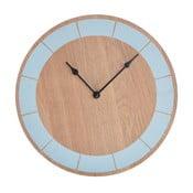 Drevené hodiny Ewax Blue, 30 cm