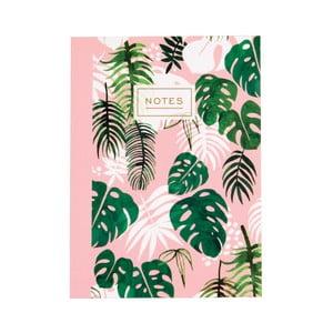 Zošit Rex London Tropical Palm, veľkosť A6