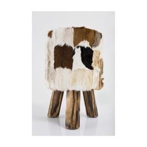 Kožená stolička Kare Design Flint Stone, ⌀48cm